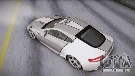 NFS: Carbon TFKs Aston Martin Vantage para GTA San Andreas vista interior