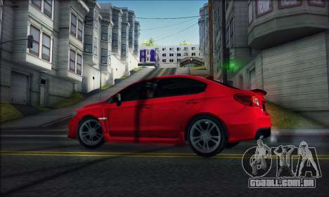 Subaru WRX 2015 para GTA San Andreas traseira esquerda vista