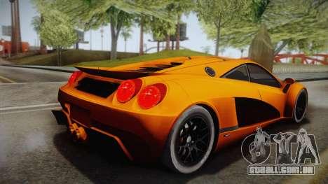 HTT Plethore LC750 2012 para GTA San Andreas esquerda vista