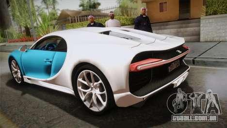 Bugatti Chiron 2017 v2.0 Korean Plate para GTA San Andreas esquerda vista