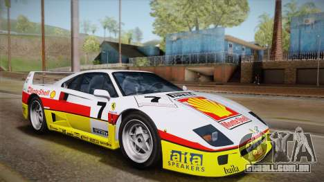 Ferrari F40 (US-Spec) 1989 HQLM para GTA San Andreas vista traseira