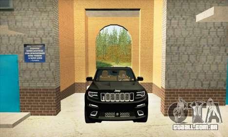 Jeep Cherokee SRT 8 para GTA San Andreas vista interior