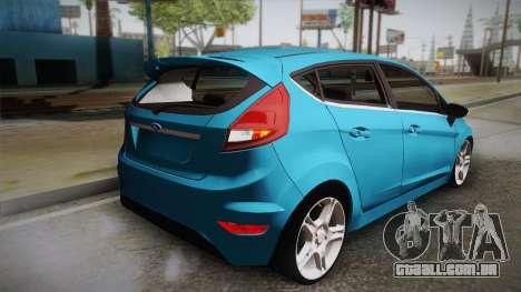 Ford Fiesta Kinetic Design para GTA San Andreas esquerda vista