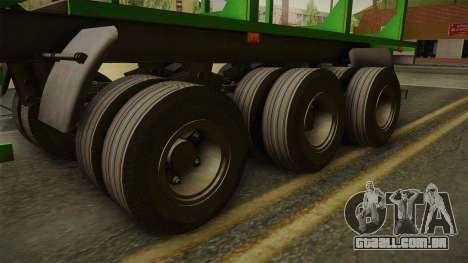 MAZ 99864 Trailer v2 para GTA San Andreas vista traseira