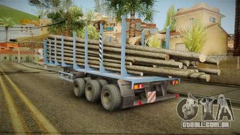 MAZ 99864 Trailer v1 para GTA San Andreas traseira esquerda vista