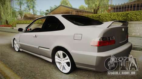 Honda Civic Coupe DX 1995 para GTA San Andreas esquerda vista