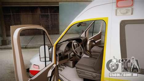 Mercedes-Benz Sprinter 2012 SA EMS Alliance para GTA San Andreas vista direita