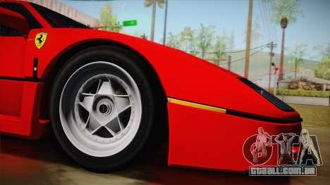Ferrari F40 (US-Spec) 1989 HQLM para GTA San Andreas esquerda vista