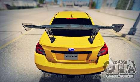 Subaru WRX STI S207 NBR CHALLENGE YELLOW EDITION para GTA San Andreas vista direita