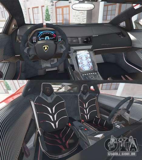 GTA 5 Lamborghini Centenario LP770-4 2017 v1.3 [a] traseira direita vista lateral