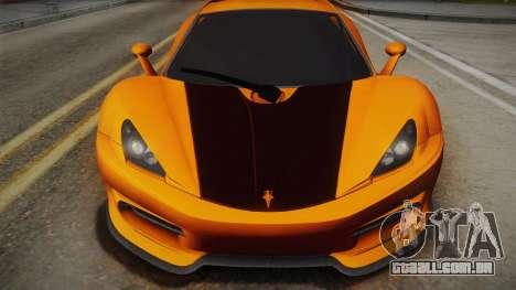 HTT Plethore LC750 2012 para GTA San Andreas traseira esquerda vista