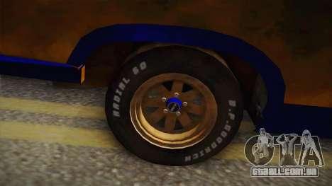 Ford Falcon 1973 Mad Max: Fury Road para GTA San Andreas vista traseira