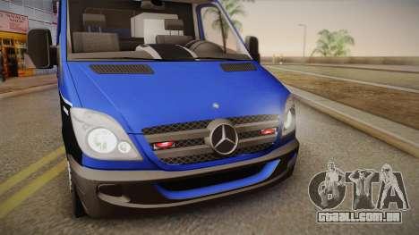 Mercedes-Benz Sprinter 2012 Midwest Ambulance para GTA San Andreas traseira esquerda vista