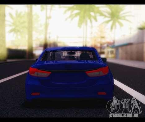Mazda 6 Stance para GTA San Andreas vista direita