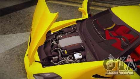 Chevrolet Corvette Stingray 2015 para GTA San Andreas vista superior