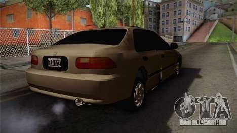 Honda Civic Sedan EX 1993 para GTA San Andreas