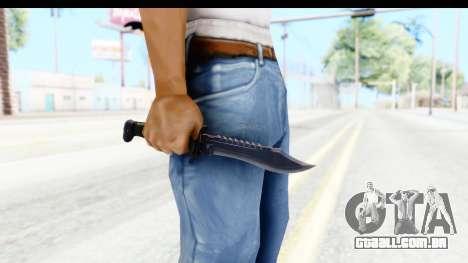 CS:GO - Bowie Knife para GTA San Andreas terceira tela