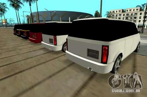 Moonbeam Kaef para GTA San Andreas vista direita