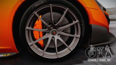 McLaren 675LT 2015 10-Spoke Wheels para GTA San Andreas vista traseira
