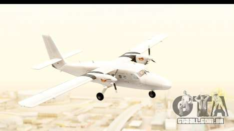 DHC-6-400 All White para GTA San Andreas traseira esquerda vista