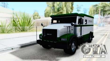 GTA 5 Stockade v1 para GTA San Andreas vista direita