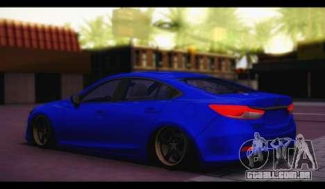 Mazda 6 Stance para GTA San Andreas esquerda vista