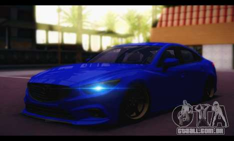 Mazda 6 Stance para GTA San Andreas traseira esquerda vista