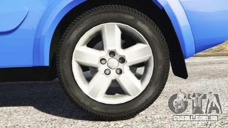 GTA 5 Toyota RAV4 (XA20) [replace] traseira direita vista lateral