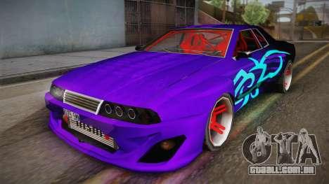 Elegy Drift para GTA San Andreas traseira esquerda vista