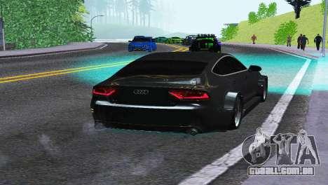 AUDI A7 SPORTSBACK para GTA San Andreas traseira esquerda vista