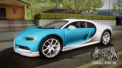 Bugatti Chiron 2017 v2.0 Korean Plate para vista lateral GTA San Andreas