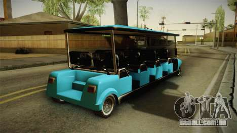Caddy Limo para GTA San Andreas vista direita