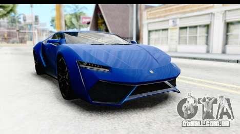 GTA 5 Pegassi Reaper SA Style para GTA San Andreas traseira esquerda vista