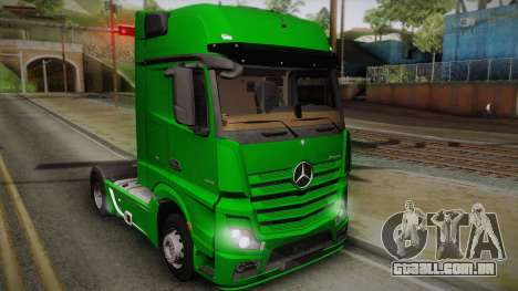 Mercedes-Benz Actros Mp4 4x2 v2.0 Gigaspace para GTA San Andreas