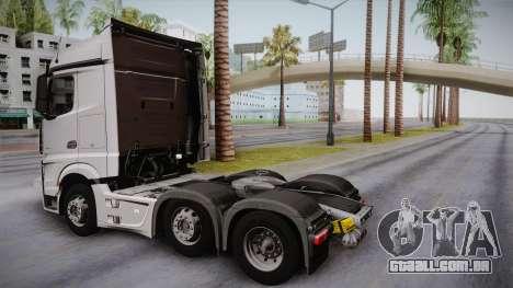 Mercedes-Benz Actros Mp4 6x2 v2.0 Steamspace para GTA San Andreas esquerda vista