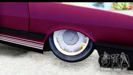 Volkswagen Passat Pointer GTS 1.8 1988 para GTA San Andreas vista traseira
