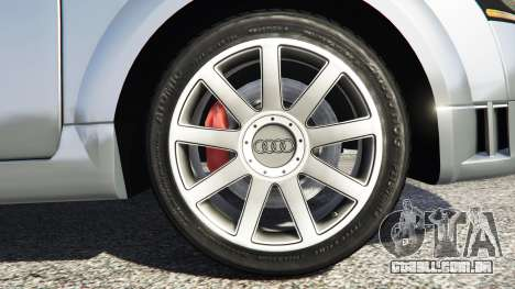 GTA 5 Audi TT (8N) 2004 [replace] traseira direita vista lateral