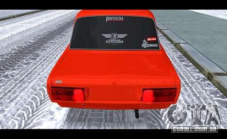 VAZ 2105 patch v3 para GTA San Andreas vista traseira