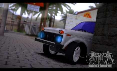 VAZ 2121 Bpan para GTA San Andreas traseira esquerda vista