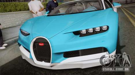 Bugatti Chiron 2017 v2.0 Korean Plate para GTA San Andreas vista direita
