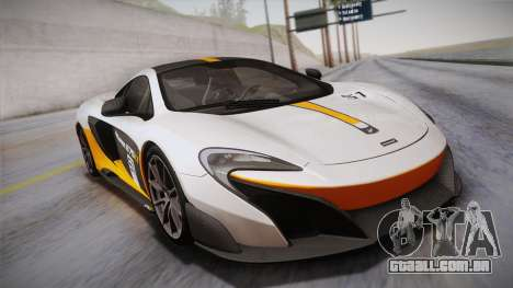 McLaren 675LT 2015 10-Spoke Wheels para GTA San Andreas vista inferior