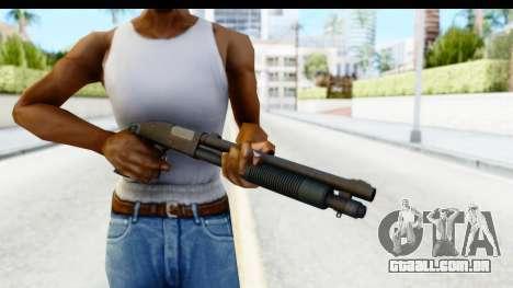 Tactical Mossberg 590A1 Black v3 para GTA San Andreas terceira tela