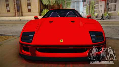 Ferrari F40 (US-Spec) 1989 HQLM para GTA San Andreas vista direita