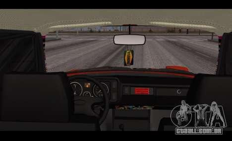 VAZ 2105 patch v3 para GTA San Andreas traseira esquerda vista