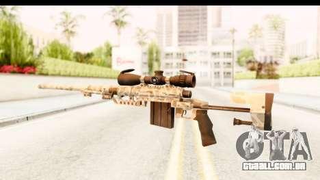 Cheytac M200 Intervention Desert Camo para GTA San Andreas segunda tela