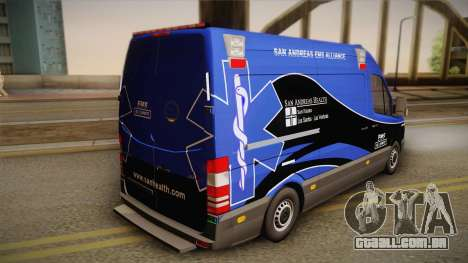 Mercedes-Benz Sprinter 2012 Midwest Ambulance para GTA San Andreas esquerda vista