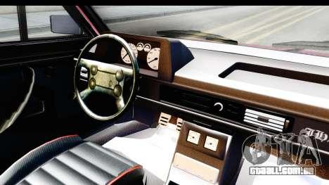 Volkswagen Passat Pointer GTS 1.8 1988 para GTA San Andreas vista interior