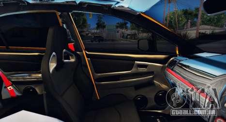 Subaru WRX STI S207 NBR CHALLENGE YELLOW EDITION para GTA San Andreas vista inferior
