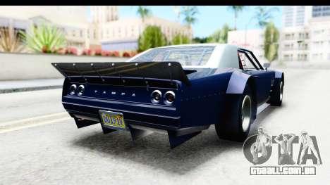 GTA 5 Declasse Tampa Drift para GTA San Andreas esquerda vista