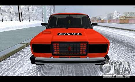 VAZ 2105 patch v3 para GTA San Andreas vista direita